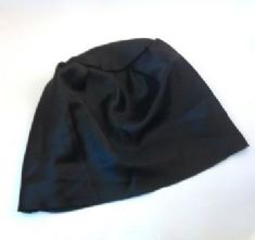Black Satin Sew-in Hat Lining